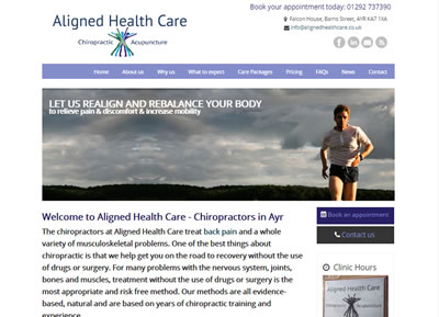 Aligned Healthcare - website designers St Albans