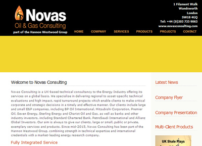 Novas Consulting - website design St Albans