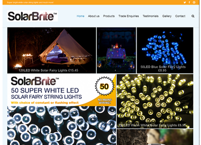 Solarbrite - website design St Alban