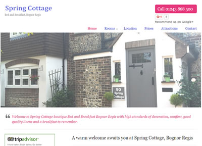 Spring Cottage - website designers St Albans