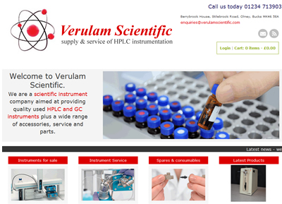 Verulam Scientific - website designers St Albans